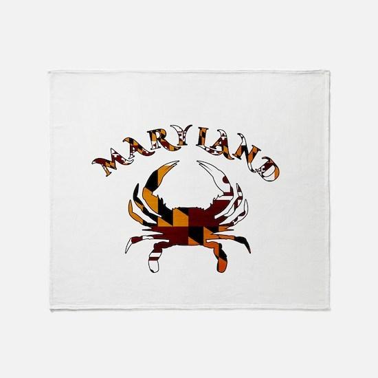 Maryland Flag Crab Throw Blanket