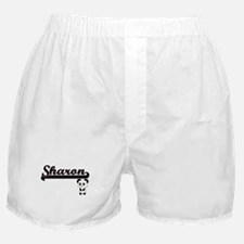 Sharon Classic Retro Name Design with Boxer Shorts
