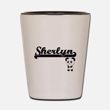 Sherlyn Classic Retro Name Design with Shot Glass
