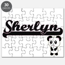 Sherlyn Classic Retro Name Design with Pand Puzzle