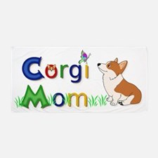 Corgi Mom Beach Towel