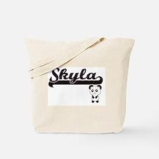 Skyla Classic Retro Name Design with Pand Tote Bag