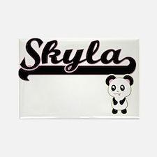 Skyla Classic Retro Name Design with Panda Magnets