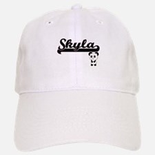 Skyla Classic Retro Name Design with Panda Baseball Baseball Cap