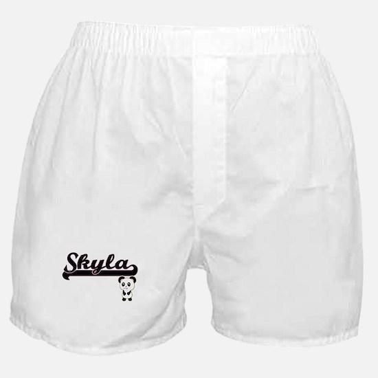 Skyla Classic Retro Name Design with Boxer Shorts