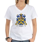 Crouzet Family Crest Women's V-Neck T-Shirt