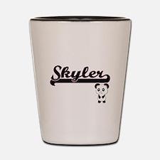Skyler Classic Retro Name Design with P Shot Glass