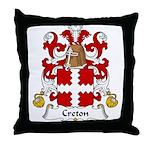 Creton Family Crest Throw Pillow