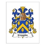 Crespin Family Crest Small Poster