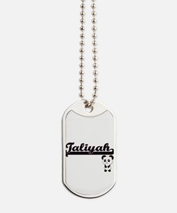 Taliyah Classic Retro Name Design with Pa Dog Tags