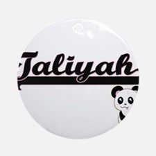Taliyah Classic Retro Name Design Ornament (Round)