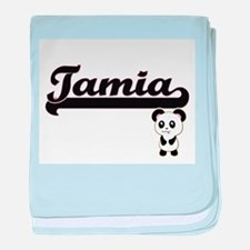 Tamia Classic Retro Name Design with baby blanket