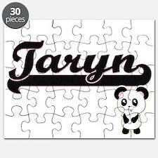 Taryn Classic Retro Name Design with Panda Puzzle