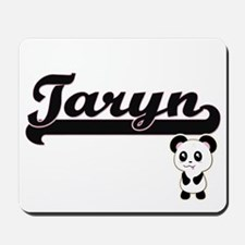 Taryn Classic Retro Name Design with Pan Mousepad