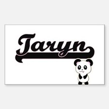 Taryn Classic Retro Name Design with Panda Decal