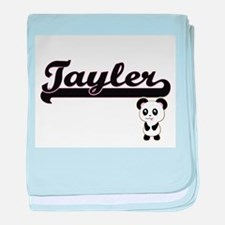 Tayler Classic Retro Name Design with baby blanket