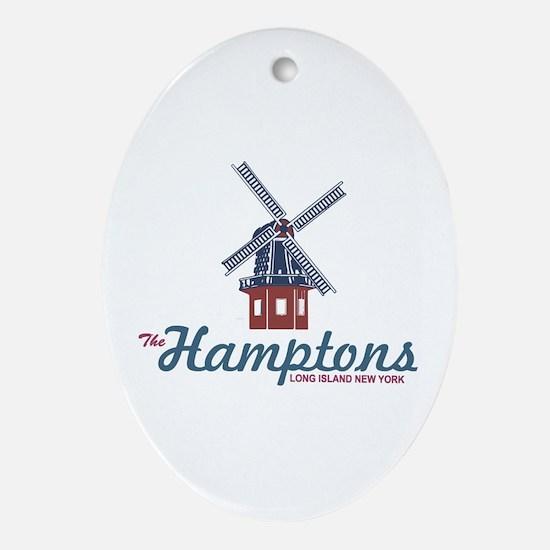 The Hamptons - Long Island. Ornament (oval)