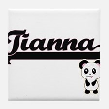 Tianna Classic Retro Name Design with Tile Coaster