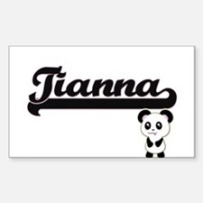 Tianna Classic Retro Name Design with Pand Decal