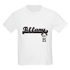 Tiffany Classic Retro Name Design with Pan T-Shirt