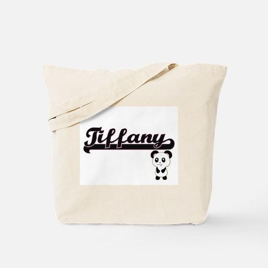 Tiffany Classic Retro Name Design with Pa Tote Bag