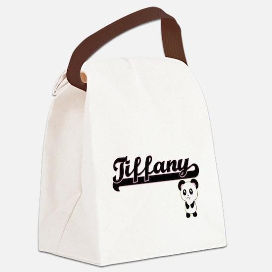Tiffany Classic Retro Name Design Canvas Lunch Bag