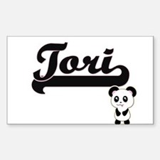 Tori Classic Retro Name Design with Panda Decal