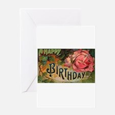 Victorian Birthday Rose Greeting Card