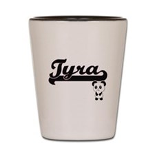 Tyra Classic Retro Name Design with Pan Shot Glass