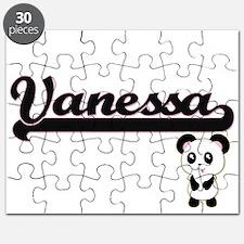 Vanessa Classic Retro Name Design with Pand Puzzle