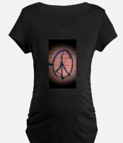 Peace Graffiti Maternity T-Shirt