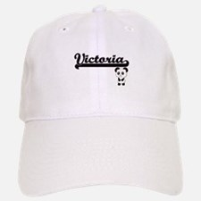 Victoria Classic Retro Name Design with Panda Baseball Baseball Cap