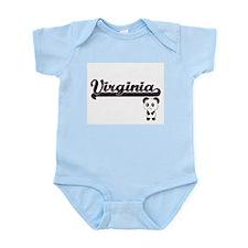 Virginia Classic Retro Name Design with Body Suit