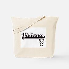 Viviana Classic Retro Name Design with Pa Tote Bag