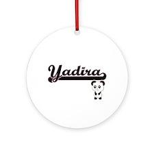 Yadira Classic Retro Name Design Ornament (Round)