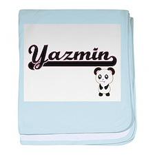 Yazmin Classic Retro Name Design with baby blanket