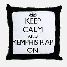 Keep Calm and Memphis Rap ON Throw Pillow