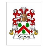 Coudray Family Crest Small Poster