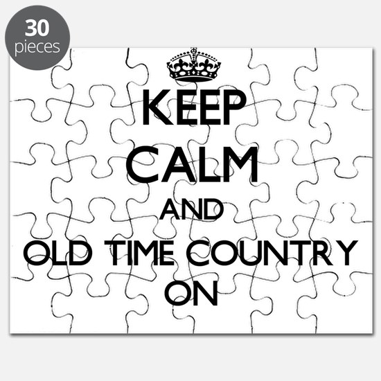 Keep Calm and Old Time Country ON Puzzle