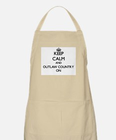 Keep Calm and Outlaw Country ON Apron