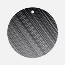Black and White Diagonal Lines Ornament (Round)