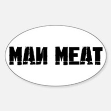 Man Meat Oval Decal