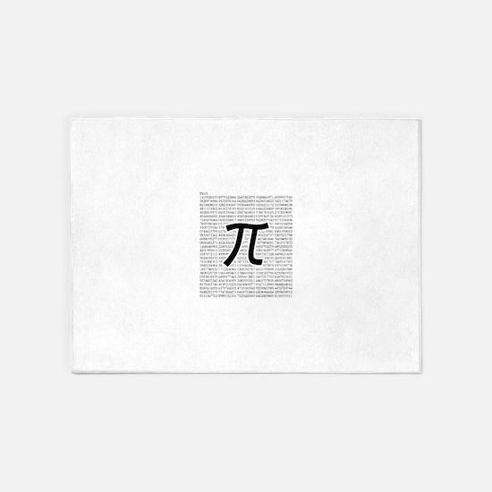 pi: circumference ratio: mathematics 5'x7'Area Rug
