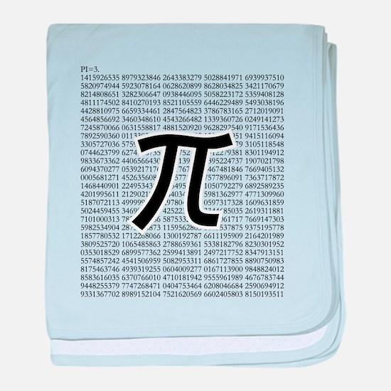 pi: circumference ratio: mathematics baby blanket