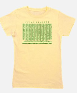 prime numbers: mathematics Girl's Tee