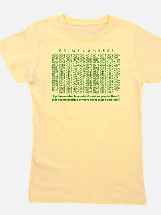prime numbers: mathematics Girl's Tee