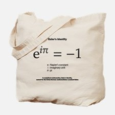Euler's identity: mathematics Tote Bag