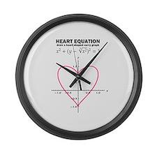 heart equation: mathematics Large Wall Clock