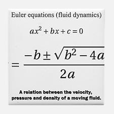 quadratic formula: Euler: mathematics Tile Coaster