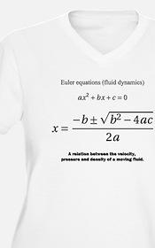 quadratic formula: Euler: mathematics Plus Size T-